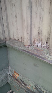 Chapel woodwork deterioration