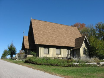 Side view of chapel