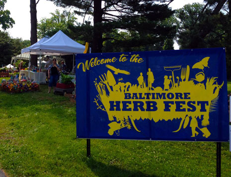 Photo: Herb Festival sign
